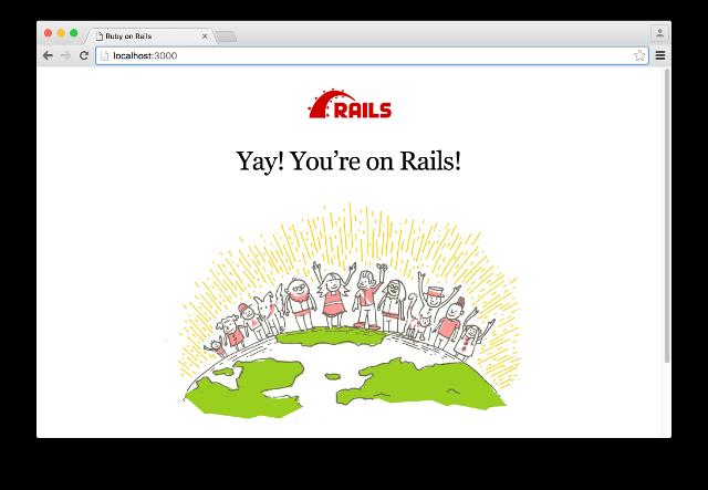 Railsのデフォルトのトップページ